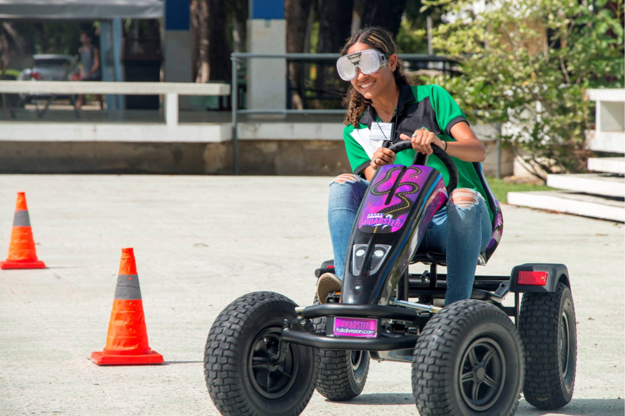 Drunk driving simulators or pedal karts are tools to use in a drunk driving prevention program.