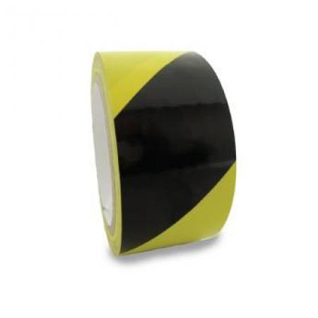 "Walk the Line TapeUse this 54' roll of yellow & black striped, adhesive-backed tape to lay out ""walk-the-line"" exercises."