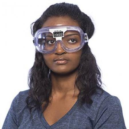 A person wears the Fatal Vision alcohol simulation goggles.