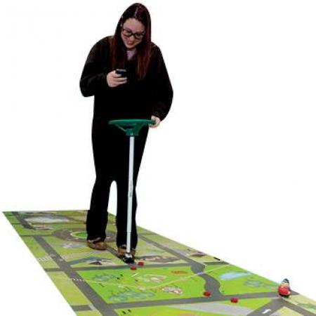 This distracted driving education activity mat is ideal to add an additional dose of reality to your distracted driving awareness activities and outreach program.