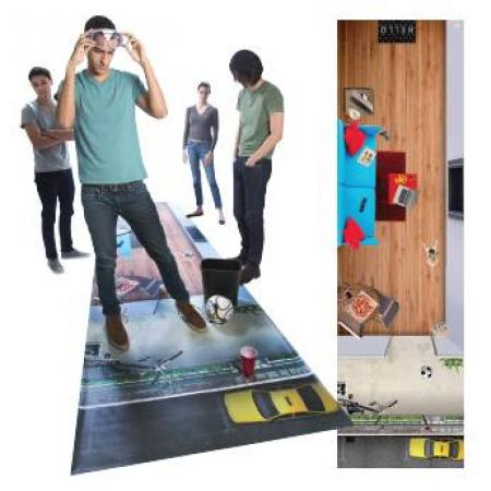 The DIES® Balcony Danger Mat is designed specifically to help you raise awareness about one's susceptibility to the potential dangers associated with alcohol impairment in a party scene.