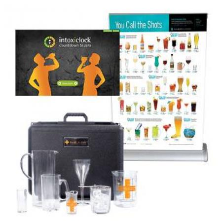 The Intoxiclock® alcohol awareness activities program kit delivers a lesson about the impact of alcohol on Blood Alcohol Concentration (BAC).