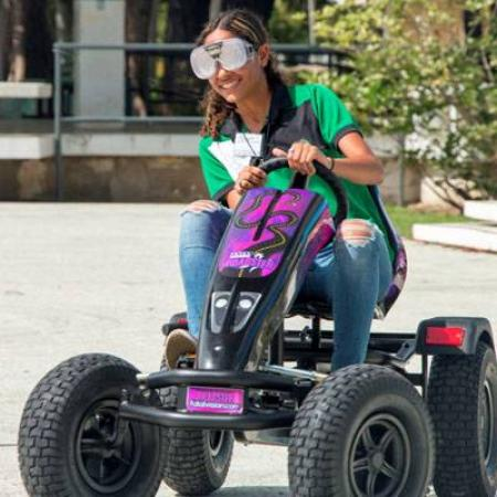 Combine impairment goggles with the new Roadster Pedal Kart to show students the effects of alcohol, drugs, or drowsiness on the ability to drive.